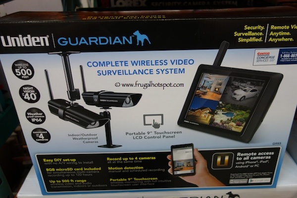 Uniden Guardian G955Complete Wireless Video Surveillance System Costco