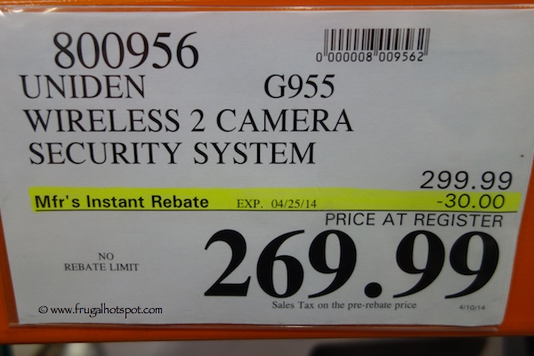 Uniden Guardian G955Complete Wireless Video Surveillance System Costco Price