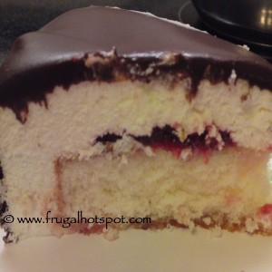 White Chocolate Raspberry Mousse Cake Piece