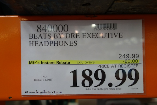 Beats by Dre Executive Headphones Costco Price