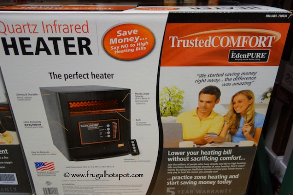 Trusted Comfort by EdenPure Quartz Infrared Heater