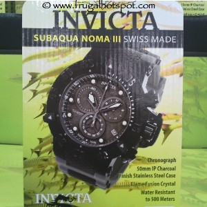 Invicta Subaqua Noma III Chronograph Steel Case Men's Watch