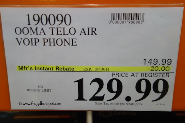 Ooma Telo Air Voip Phone Costco Price