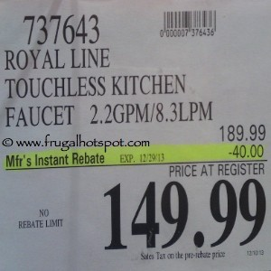 Royal Kitchen Touchless Kitchen Faucet Costco Price