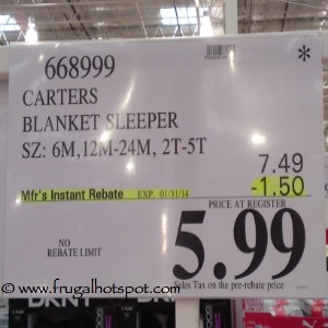 Carters Blanket Sleeper Costco Price
