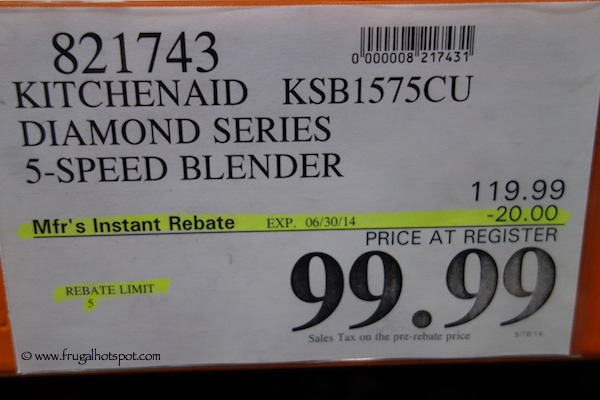 KitchenAid Diamond Series 5-Speed Blender Costco Price