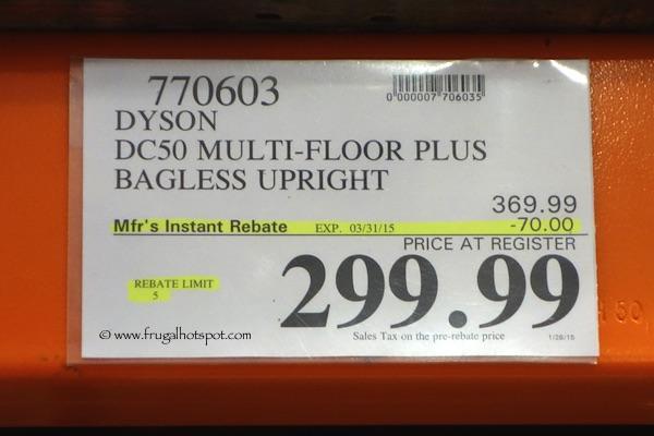 Dyson DC50 Multi Floor Plus Bagless Upright Vacuum Costco Price