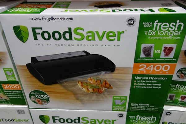 FoodSaver 2400 Series V2461 Food Vacuum Sealer Costco