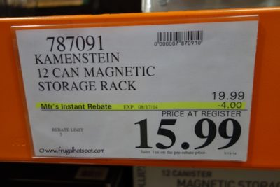 Kamenstein 12 Can Magnetic Storage Rack Costco Price