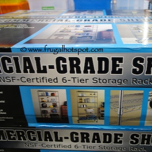 NSF Certified 6 Tier Storage Rack with Commercial Grade Shelf