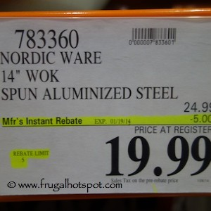 "Nordic Ware 14"" Wok Costco Price"