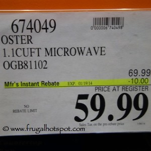 Oster 1.1 Cu Ft Microwave OGB81102 Costco Price
