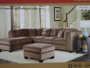 Universal Furniture Broadmore Paxton 3 Piece Sectional Sofa
