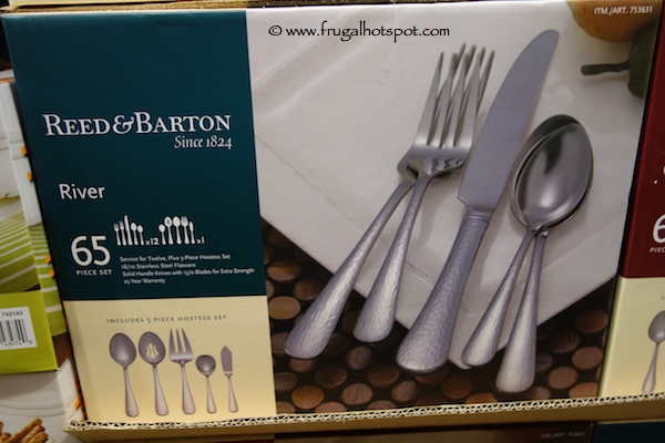 Reed & Barton River 65 Piece Stainless Steel Flatware Set
