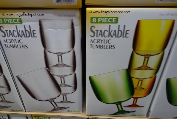8 Piece Stackable Acrylic Tumblers