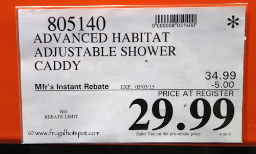 Advanced Habitat Adjustable Shower Caddy Costco Price