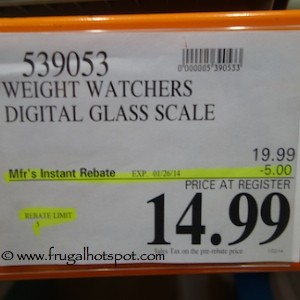 Weight Watchers Digital Glass Scale by Conair Costco Price