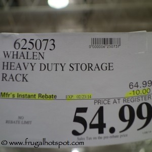 Whalen Heavy Duty Rack Costco Price