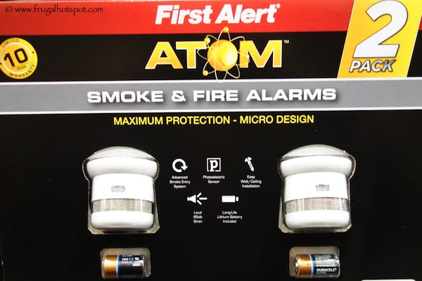 First Alert Atom Smoke & Fire Alarms Costco