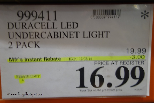 Duracell Under Cabinet Light 2 Pack Costco Price