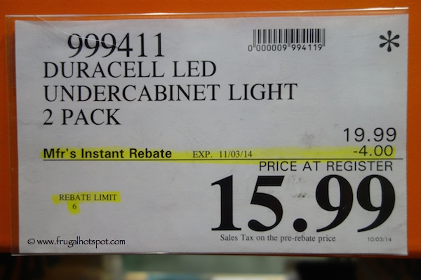Beau Duracell LED Undercabinet Light 2 Pack Costco Price