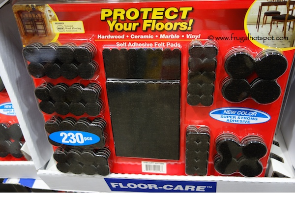 Floor Care Self Adhesive Felt Pads 230 Pieces