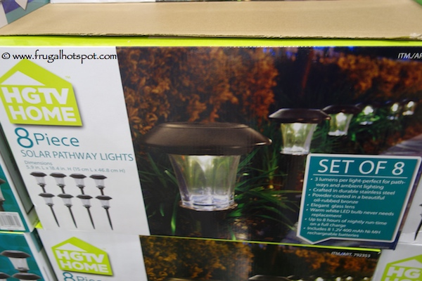 HGTV Home Solar Pathway Lights 8 Piece