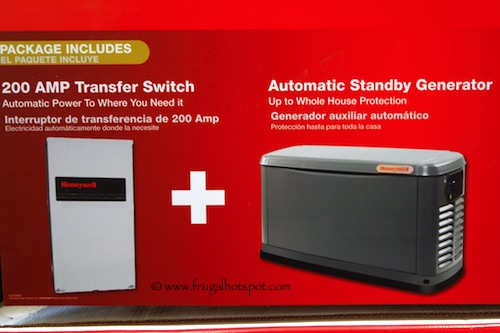Honeywell 17KW Generator Costco