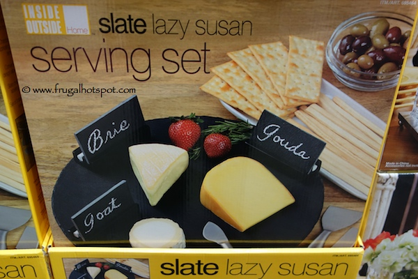 Inside Outside Home Slate Lazy Susan Serving Set