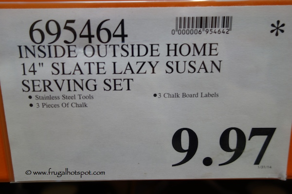Inside Outside Home Slate Lazy Susan Serving Set Costco Price