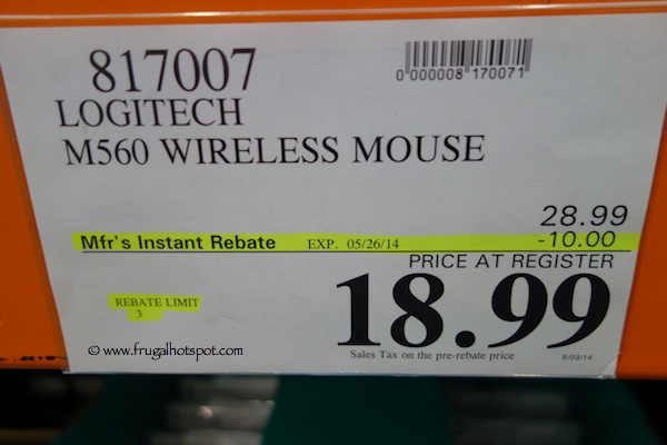 Logitech M560 Wireless Mouse Costco Price