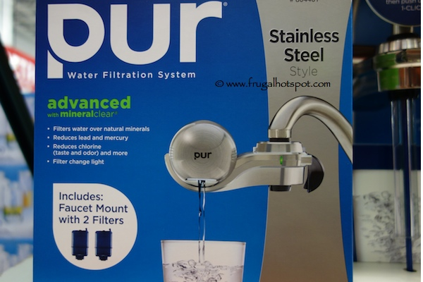 Pur Water Filtration System Faucet Mount Stainless Steel Style