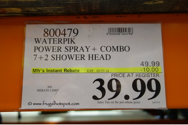 Waterpik 2 in 1 Shower System Showerhead Costco Price