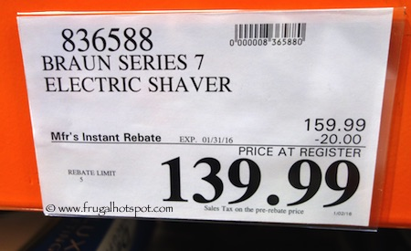 Braun Series 7 Wet & Dry Electric Shaver Costco Price
