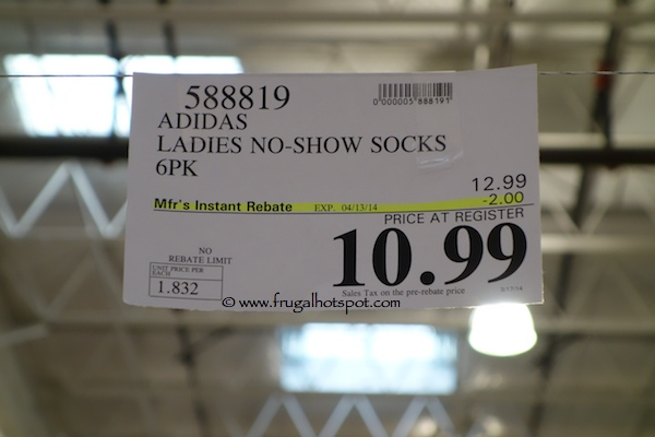 Adidas Womens Sport Superlite No Show Socks Costco Price