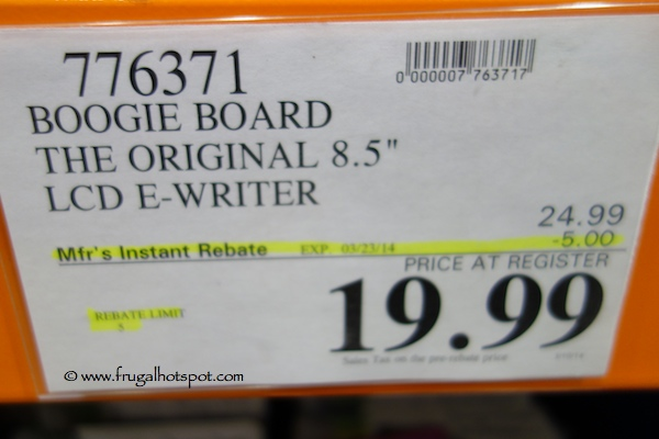 "Boogie Board The Original 8.5"" LCD E-Writer Costco Price"
