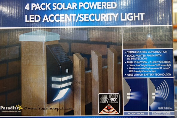 Paradise 4 Pack Solar Powered LED Accent Security Light