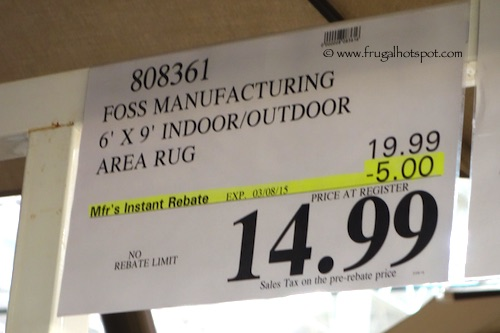 Costco Sale Foss Manufacturing Clean Green 6 X 9 Indoor