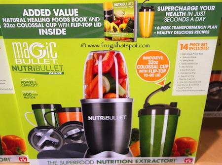 NutriBullet Deluxe Blender/Extractor 14-Piece Set Costco
