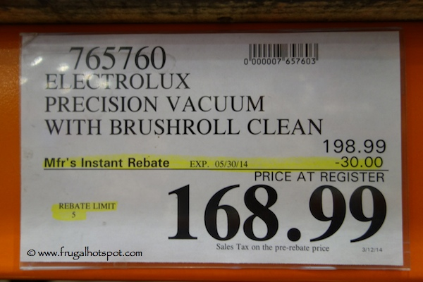Electrolux Precision Vacuum with Brushroll Clean Costco Price