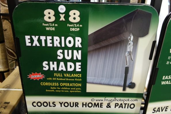 Exterior Sun Shade 8' x 8' at Costco