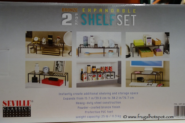 Seville Classics Bronze 2 Pack Expandable Shelf Set Costco