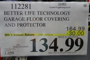 Better Life Technology Garage Floor Covering Amp Protector