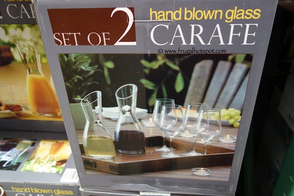 Set of 2 Hand Blown Glass Carafe Costco