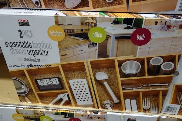 Seville Clics Expandable Bamboo Drawer Organizer Costco