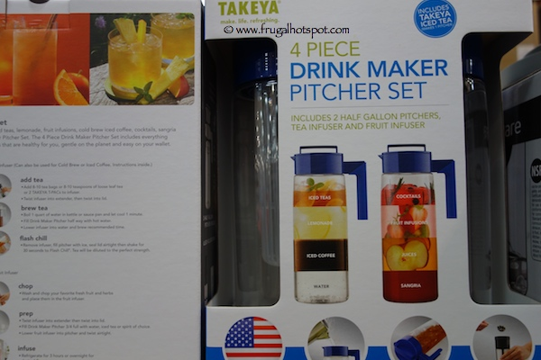 Takeya 4 Piece Drink Maker Pitcher Set Costco