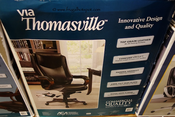 Via Thomasville Brown Leather Executive Chair