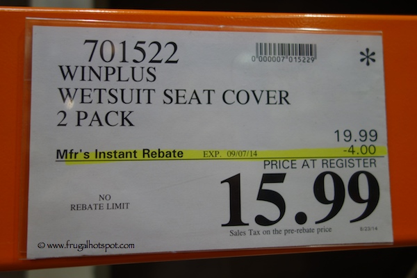 Winplus Wetsuit Seat Cover 2-Pack Costco Price