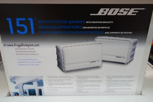 Bose 151 Environmental Indoor Outdoor Speakers Costco