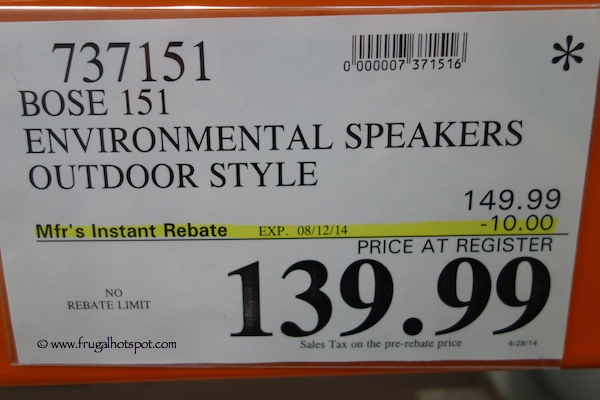 Bose 151 Environmental Speakers Outdoor Style Costco Price